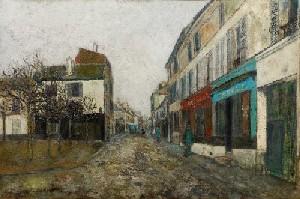 Морис Утрилло «Площадь перед церковью на Монмартре»