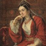 """Василий Тропинин """"Портрет В.И. Лизогуб"""" Около 1847 года. Собрание Т.А. и С.А. Подстаницких. Предоставлено: Фонд """"IN ARTIBUS""""."""