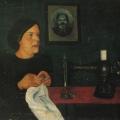 """2. Адливанкин Самуил """"Портрет моих родителей"""" 1922 Фанера, масло 52х60 Самарский областной художественный музей"""