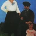 """3. Адливанкин Самуил """"Семья художника"""" 1922 Фанера, масло 88,8х53,2 Самарский областной художественный музей"""