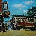 """4. Адливанкин Самуил """"Трамвай """"Б"""" 1922 Фанера, масло 47х60 Государственный Русский музей"""