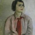 """12. Адливанкин Самуил """"Пионерка (Портрет дочери)"""" 1932 Холст, масло 78х61 Государственная Третьяковская галерея"""
