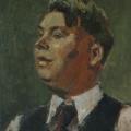 """17. Адливанкин Самуил """"Портрет А.Н.Козлова"""" 1937 Холст, масло 55х45,5 Государственная Третьяковская галерея"""