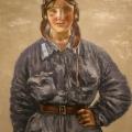"""19. Адливанкин Самуил """"Лётчица. Портрет Кати Мельниковой"""" 1934"""