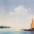 """Айвазовский Иван """"Венецианская лагуна. Вид на остров Сан-Джоржо"""" 1844 Государственная Третьяковская галерея"""