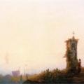 """Айвазовский Иван """"Часовня на берегу моря"""" 1847 Тверская областная картинная галерея"""
