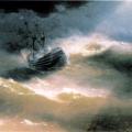 """Айвазовский Иван """"Корабль """"Мария"""" во время шторма"""" 1892 Феодосийская картинная галерея им. И.К. Айвазовского"""