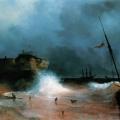 """Айвазовский Иван """"Конец бури на море"""" 1839 Государственная Третьяковская галерея"""