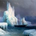 """Айвазовский Иван """"Ледяные горы в Антарктиде"""" 1870  Феодосийская картинная галерея им. И.К. Айвазовского"""