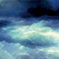 """Айвазовский Иван """"Среди волн"""" 1898 Феодосийская картинная галерея им. И.К. Айвазовского"""