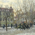 2. Айзенман Алексей «На Гоголевском бульваре. Москва»  1950-е