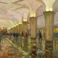 13. Айзенман Алексей «Станция метро «Кропоткинская». Москва»  1960