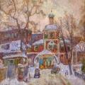 24. Айзенман Алексей «Бензоколонка возле Зачатьевского монастыря»  1970-е