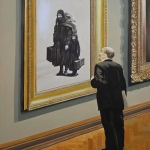 """Алексей Азаров """"В музее"""" 2020. Предоставлено: Галерея 11.12."""