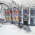 """Анна Бабышева """"Сумерки. Территория Кремля"""". Предоставлено: Астраханская картинная галерея имени П.М. Догадина."""