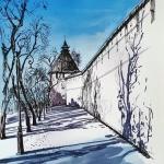 """Анна Бабышева """"Небо города"""". Предоставлено: Астраханская картинная галерея имени П.М. Догадина."""