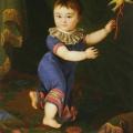 """54. Аргунов Николай """"Портрет графа Д.Н.Шереметева в детстве"""" 1804 Холст, масло 90,2х66,5 Похищен в 1949 году"""