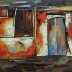 """Юрий Григорян """"Двери старого дома"""" 2018. ©  East Meets West Gallery"""