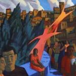 "Светлана Атаханова ""Прогулка по Перудже. Побег"" 2015. Предоставлено автором."