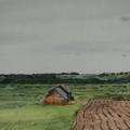 """10. Бенуа Альберт """"Пейзаж"""" 1873 Бумага, акварель 16х33 Государственный Эрмитаж"""