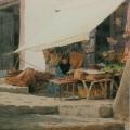 """37. Бенуа Альберт """"На острове Капри"""" Бумага на картоне, акварель 24,2х15,4 Ульяновский художественный музей"""