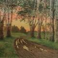 "46. Бенуа Альберт ""После дождя. Этюд"" 1919 Бумага на картоне, акварель, лак 36,6х48,2 Тверская областная картинная галерея"