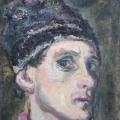 """17. Чирков Антон """"Автопортрет"""" 1934 Картон, масло 34х27"""