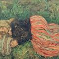 "19. Чирков Антон ""Варя на лужайке"" 1936 Холст, масло 56х85 Пензенская картинная галерея"