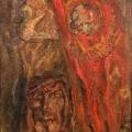 "27. Чирков Антон ""Красное знамя"" 1942 Холст, масло 159х108"