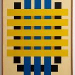 """Владимир Андреенков """"Три голубых вертикали"""" 1981. Предоставлено: Alina Pinsky Gallery."""