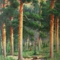 """551. Дилакторский Сергей """"За грибами. В летнем лесу"""" 1914 Бумага, акварель, графитный карандаш, темпера 46,3х32"""