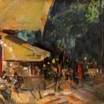 """Константин Коровин """"Париж. Ночное кафе"""" 1929. Частная коллекция. """"Коллекцiонеръ Клуб""""."""