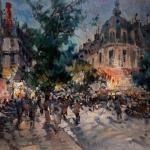 """Константин Коровин """"Ночной бульвар в Париже"""" 1927. Частная коллекция. """"Коллекцiонеръ Клуб""""."""