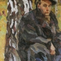 "1. Егоршина Наталия ""Портрет Н. Андронова. Абрамцево (Грибник)"" 1956 Холст, масло 170х73"