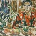 """13. Егоршина Наталия """"Портрет Д.В. Сарабьянова"""" 1964 Холст, масло 104х120"""