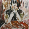 """14. Егоршина Наталия """"Татка (Портрет Т.И. Сельвинской)"""" 1961 Холст, масло 65х65"""