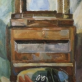 "27. Егоршина Наталия ""Голубой торс"" 1967-1968 Холст, масло 109х90"