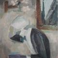"""28. Егоршина Наталия """"Поливающий голову"""" 1967-1970 Холст, масло 107х80"""