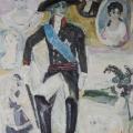 """31. Егоршина Наталия """"Павел I. Среди женщин"""" 1969 Холст, масло 134х115"""
