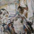 """36. Егоршина Наталия """"Три ракурса. Портрет Н. Андронова"""" 1965 Холст, масло 77х104"""