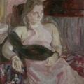 """44. Егоршина Наталия """"Маша (Портрет дочери)"""" 1985 Холст, масло 100х80"""