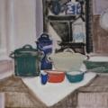 """47. Егоршина Наталия """"Кухонный натюрморт"""" 1983 Холст, масло 73х90"""