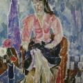 """5. Егоршина Наталия """"Портрет Аньи Вамелво"""" 1959 Холст, масло 121х107"""