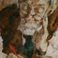 """6. Егоршина Наталия """"Портрет И.К. Андронова"""" 1956 Холст, масло 52х34"""