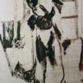 """65. Егоршина Наталия """"Портрет А. Васильцевой"""" 1999 Дерево, масло 201х100"""