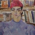 "8. Егоршина Наталия ""Принцесса Каджар"" 1958 Холст, масло 57х57"