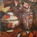 "1.  Экстер Александра  ""Натюрморт с вазой и цветами""  1908  Холст, масло  80,5х65  Государственный Русский музей"