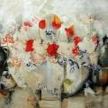 "10.  Экстер Александра  ""Ваза с цветами""  1913  Холст, масло  79х100  Краснодарский краевой художественный музей"