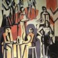 """119.  Экстер Александра  """"Кафе""""  1928  Холст, масло  100,5х80,5  Частное собрание"""