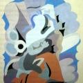 "124.  Экстер Александра  ""Иллюстрация к книге Сафо ""Стихи""  1942"